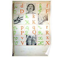 ALFABETO PARA PECADORES (alphabet for sinners) Poster