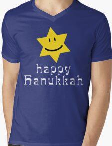 Happy Hanukkah T-Shirt Mens V-Neck T-Shirt