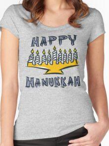 Happy Hanukkah T-Shirt Women's Fitted Scoop T-Shirt
