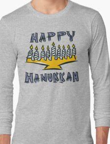 Happy Hanukkah T-Shirt Long Sleeve T-Shirt