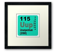 Ununpentium Periodic Table of Elements Framed Print