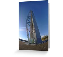 Leaning Tower Glasgow Greeting Card