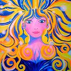 ORIGINAL PAINTING - Unveiling of the Goddess - Visionary Pagan &amp; Spirit Art by jonkania