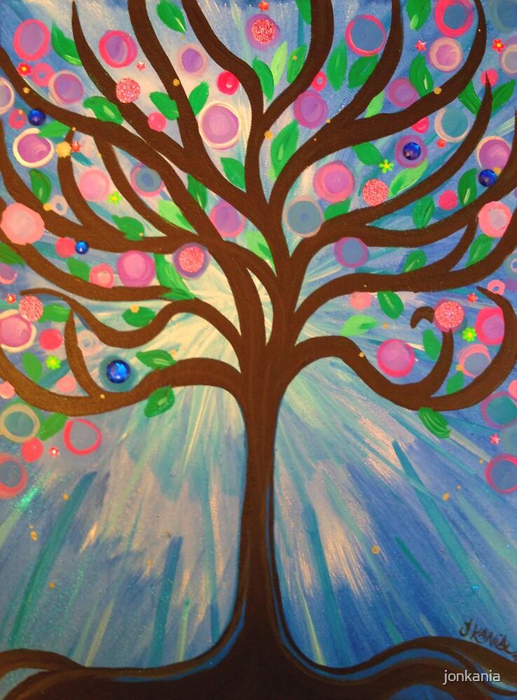WHIMSICAL Fantasy Art Painting - Tree of Light by jonkania
