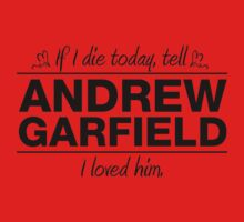 "Andrew Garfield - ""If I Die"" Series (Black) by huckblade"