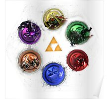 Legend Of Zelda Ocarina Of Time Bosses Poster