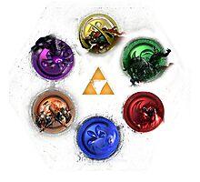 Legend Of Zelda Ocarina Of Time Bosses Photographic Print