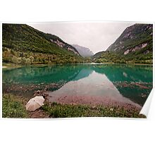 Fishing in the Lago di Tenno Poster