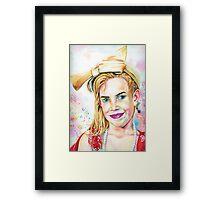 Wonder girl, dress up queen Framed Print