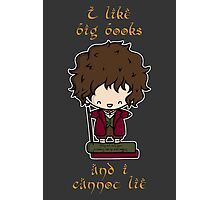 I Like Big Books - Bilbo Photographic Print