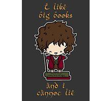 I Like Big Books - Bilbo Photographic Print