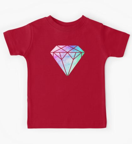 Rainbow Galaxy Diamond Kids Tee