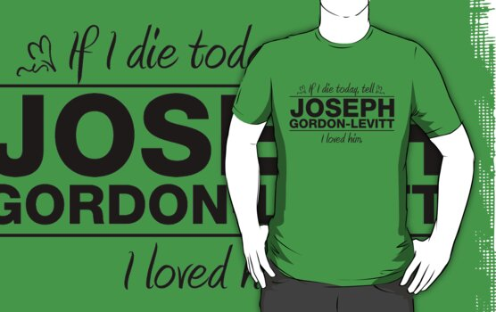 "Joseph Gordon-Levitt - ""If I Die"" Series (Black) by huckblade"