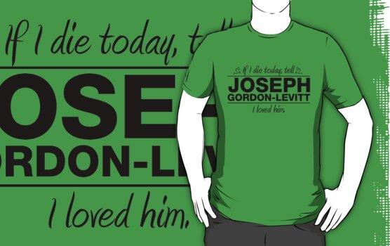 "Joseph Gordon-Levitt - ""If I Die"" Series (Black) by huckblade"