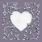 Grey Heart Vines tee by Donna Huntriss