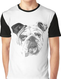 Portrait Of An American Bulldog In Black and White  Graphic T-Shirt