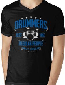 DRUMMER Mens V-Neck T-Shirt