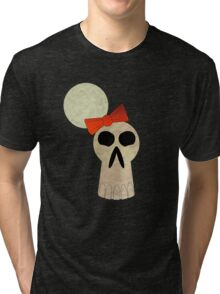 little miss skull  Tri-blend T-Shirt