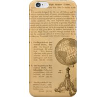 An illustrated manual for the use of the terrestrial and celestial globes iPhone Case/Skin