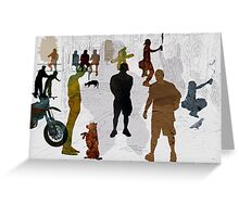 Street Boys Greeting Card