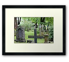 Cemetery in Trondheim outside of the Nidaros Cathedral Framed Print