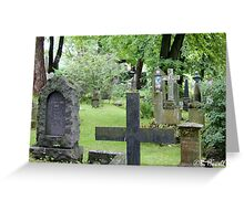 Cemetery in Trondheim outside of the Nidaros Cathedral Greeting Card