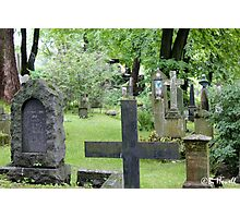Cemetery in Trondheim outside of the Nidaros Cathedral Photographic Print