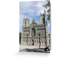 Nidaros Cathedral in Trondheim Norway Greeting Card