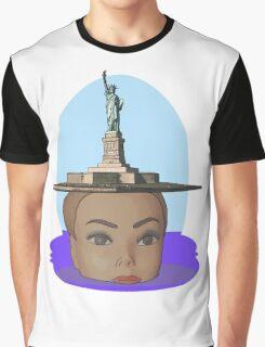 head of Liberty Graphic T-Shirt