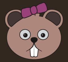 Cartoon Girl Beaver Face by mdkgraphics