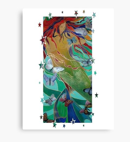 Swimming with Butterflies Canvas Print