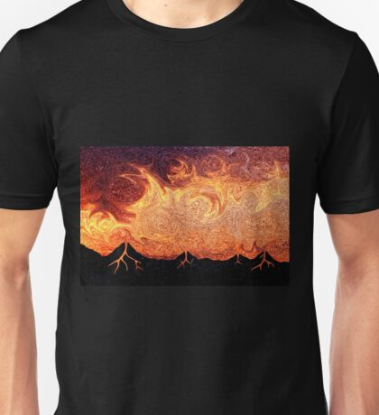 How Volcanoes are Made with Sky Lava Unisex T-Shirt