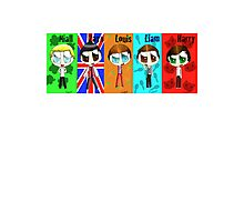 Chibi One Direction  Photographic Print