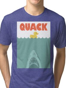 Jaws Rubber Duck 'Quack'  Tri-blend T-Shirt