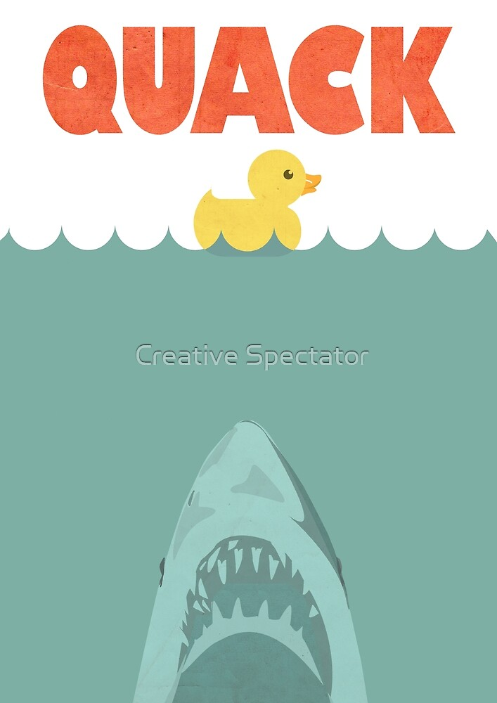 Jaws Rubber Duck 'Quack'  by Creative Spectator