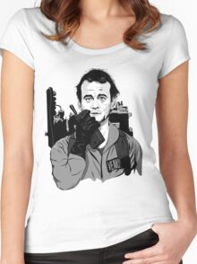 Ghostbusters Peter Venkman Bill Murray illustration Women's Fitted Scoop T-Shirt