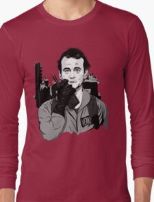 Ghostbusters Peter Venkman Bill Murray illustration Long Sleeve T-Shirt