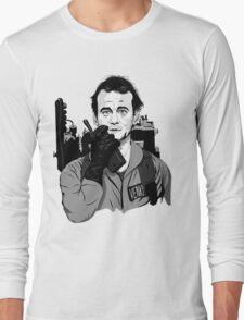 Ghostbusters Peter Venkman Bill Murray illustration Long Sleeve T-Shirt