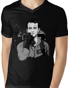 Ghostbusters Peter Venkman Bill Murray illustration Mens V-Neck T-Shirt