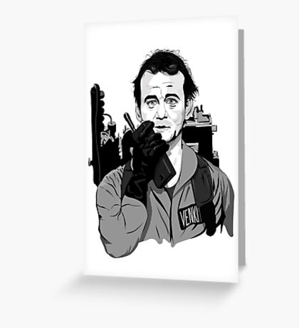 Ghostbusters Peter Venkman Bill Murray illustration Greeting Card