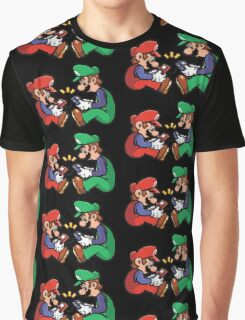 mario and luigi pixel Graphic T-Shirt