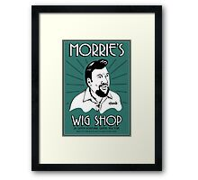 Goodfellas, Morrie's Wigs Shop Sign T-shirt  Framed Print
