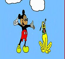 Mickey and Pluto by nmajbro