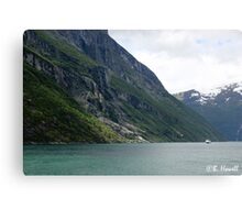 Power of the glaciers Canvas Print