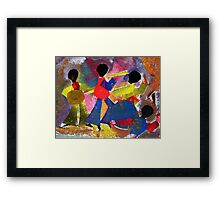 Performing musicians Framed Print