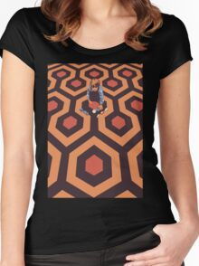 The Shining Screen Print Movie Poster  Women's Fitted Scoop T-Shirt