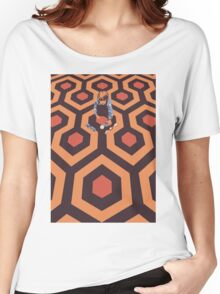 The Shining Screen Print Movie Poster  Women's Relaxed Fit T-Shirt
