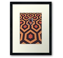 The Shining Screen Print Movie Poster  Framed Print