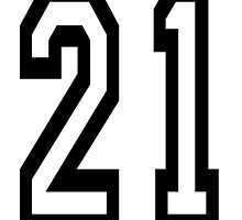 21, TEAM SPORTS, NUMBER 21, TWENTY ONE, TWENTY FIRST, TWO, ONE, Competition,  by TOM HILL - Designer