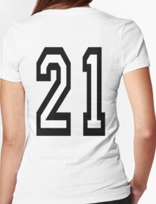 21, TEAM SPORTS, NUMBER 21, TWENTY ONE, TWENTY FIRST, TWO, ONE, Competition,  T-Shirt